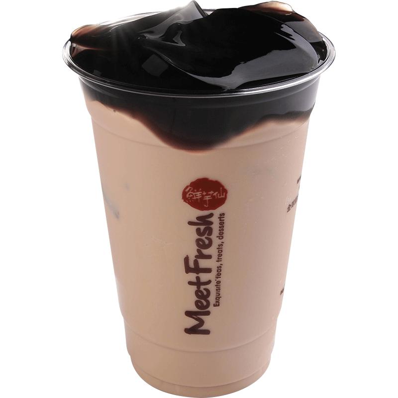 仙草凍奶茶-飲品系列