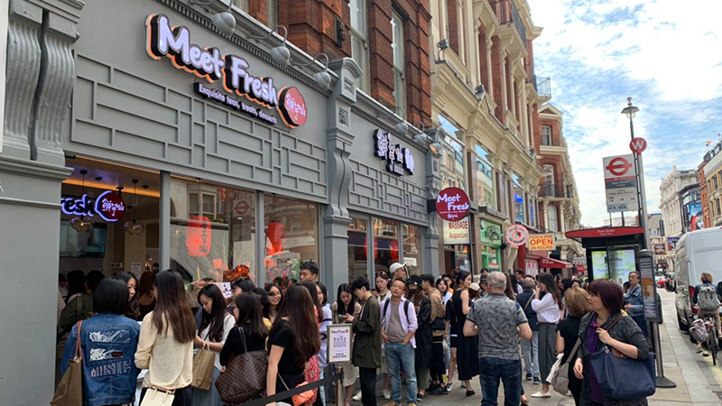 Meet Fresh鮮芋仙首度插旗歐洲,倫敦店開幕大成功!